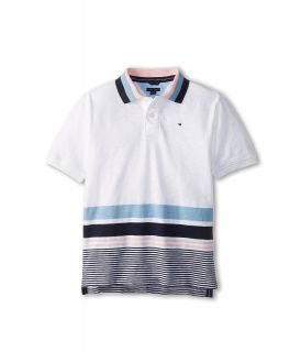 Tommy Hilfiger Kids Joseph S/S Polo Boys Short Sleeve Pullover (White)