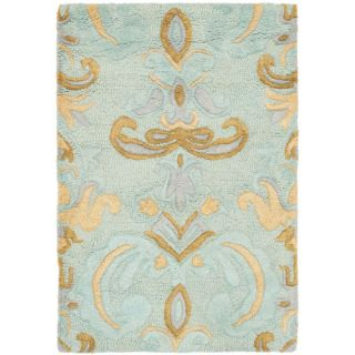 Safavieh Soho Light Blue/Multi Rug SOH215A Rug Size 76 x 96