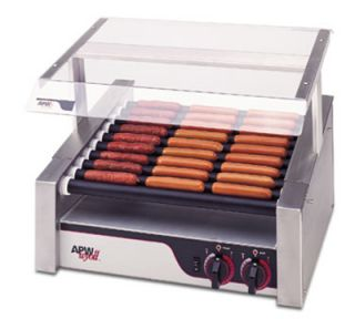 APW Wyott Hot Dog Grill, Slanted Non Stick Rollers, 460 Franks, 120 V