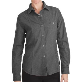 Woolrich Chamois Flannel Shirt   Snap Front  Long Sleeve (For Women)   CHARCOAL HEATHER (2XL )