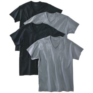 Fruit of the Loom Mens 4 pack V neck Tee   Assorted Colors S