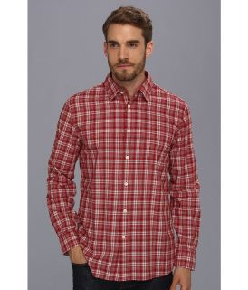 John Varvatos Slim Fit Shirt w/ Point Collar Mens Long Sleeve Button Up (Red)