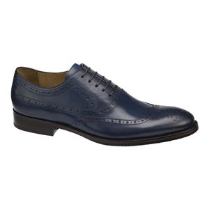 Johnston & Murphy Mens Tyndall Wing Tip Navy Shoes   20 4249
