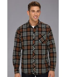Rip Curl Power Plant L/S Flannel Mens Long Sleeve Button Up (Brown)