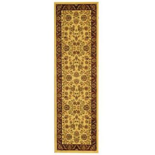 Lyndhurst Collection Tabriz Ivory/ Red Runner (23 X 6)