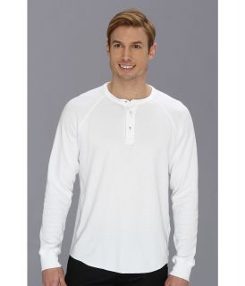 Lucky Brand Double Knit Henley Mens T Shirt (White)