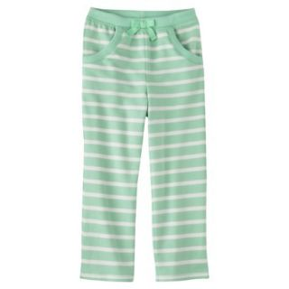 Genuine Kids from OshKosh Infant Toddler Girls Stripe Lounge Pant   Green 24 M