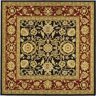 Lyndhurst Collection Majestic Black/ Red Rug (8 Square)