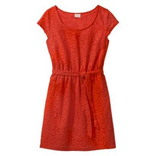 Merona Womens Lace Sheath Dress   Orange Zing   L