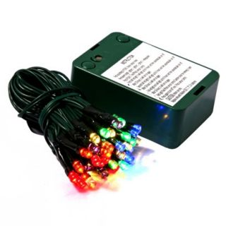 35ct Multi LED Battery Operated Timer String Lights