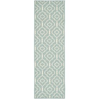 Safavieh Dhurries Light Blue/Ivory Rug DHU637C Rug Size Runner 26 x 8