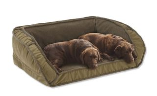 Fleece Deep Dish Dog Bed With Memory Foam / Xlarge Dogs 120+ Lbs., Multiple Dogs., Sage,