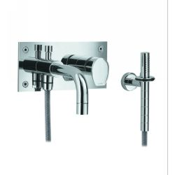 Whitehaus G9937 BN Gyro Wall Mount Bath/Shower Mixer & Handheld Shower