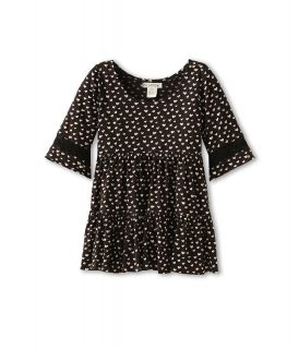 Billabong Kids Heart Flutter L/S Baby Doll Dress Girls Dress (Black)