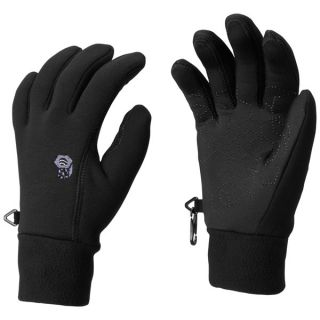 Mountain Hardwear Heavyweight Power Stretch(R) Gloves   Touch Screen Friendly (For Women)   BLACK (M )