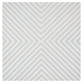 Safavieh Cambridge Light Blue/Ivory Rug CAM129A Rug Size Square 8 x 8