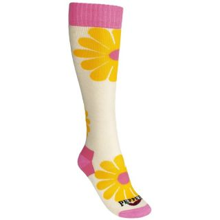 Hot Chillys Groovy Medium Cushion Socks (For Women)   GROOVY/IVORY (S )