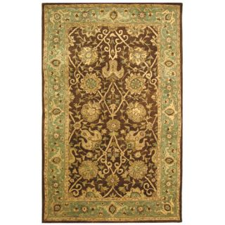 Safavieh Antiquities Brown/Green Rug AT21G Rug Size 76 x 96