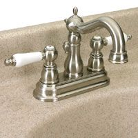 Dynasty Hardware DYN SC 42959 SN Victorian Two Handle Lavatory Faucet