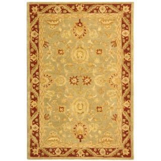 Safavieh Anatolia Light Green / Red Rug AN548A Rug Size 96 x 136