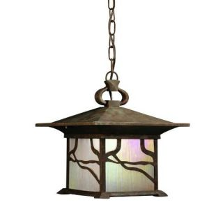 Kichler 9837DCO Outdoor Light, Arts and Crafts/Mission Pendant 1 Light Fixture Distressed Copper