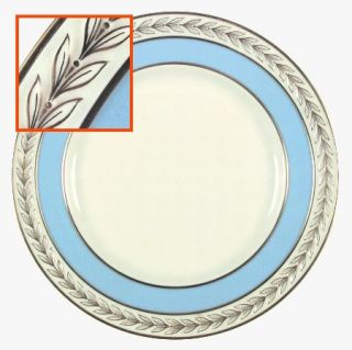 Lenox China Fontaine Light Blue (Gold Trim) Dinner Plate, Fine China Dinnerware