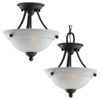Sea Gull Lighting SEA 77625 782 Wheaton Two Light Ceiling Semi Flush Convertable