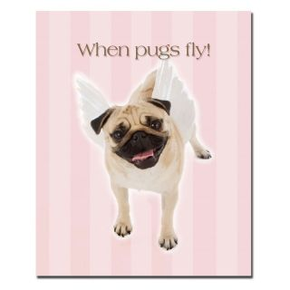 Trademark Global Inc When Pugs Fly Wall Art Multicolor   KC021 C2632GG