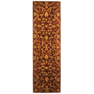 Safavieh Antiquities Majesty Wine/Gold Rug AT52B Rug Size Runner 23 x 8