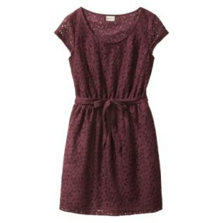 Merona Womens Lace Sheath Dress   Berry Cobbler   XXL
