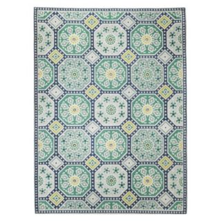 Threshold Mosaic Tile Area Rug   Blue (7x10)