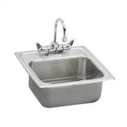 Elkay BPSRA150C Gourmet ADA Compliant Top Mount Single Bowl Kitchen Sink with Fa