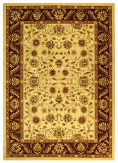 Lyndhurst Collection Tabriz Ivory/ Red Rug (53 X 76) (IvoryPattern OrientalMeasures 0.375 inch thickTip We recommend the use of a non skid pad to keep the rug in place on smooth surfaces.All rug sizes are approximate. Due to the difference of monitor co