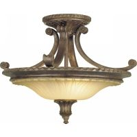 Feiss SF193BRB Stirling Castle 2   Light Indoor Semi Flush Mount