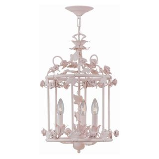 Crystorama 5813 BH Paris Flea Market Chandelier   12.5W in.   Blush Multicolor