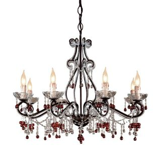 Crystorama Paris Flea Market Chandelier   27W in. Dark Rust Multicolor   4509 DR