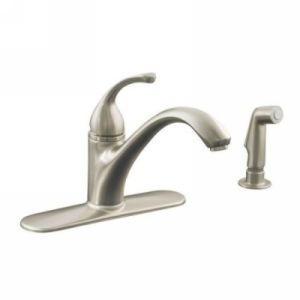 Kohler K 10412 BN Forte Single Handle Kitchen Faucet with Sidespray