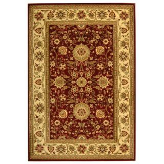 Lyndhurst Collection Majestic Red/ Ivory Rug (4 X 6)