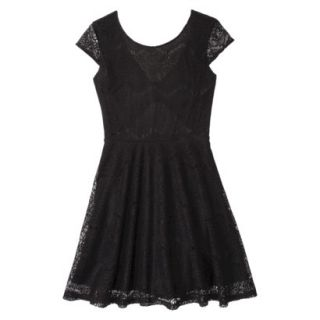 Xhilaration Juniors Open Back Lace Dress   Black XL(15 17)