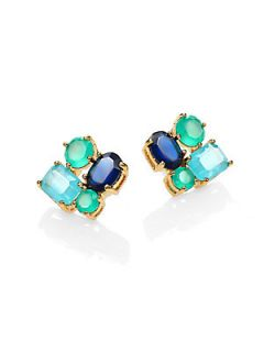 Kate Spade New York Multi Cluster Earrings   Green