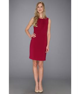 Anne Klein Crew Neck Sheath Dress Womens Dress (Red)