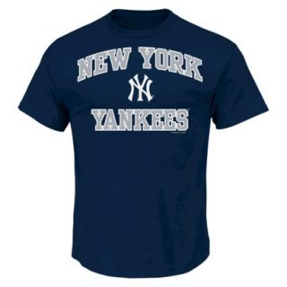 MLB Mens New York Yankees T Shirt   Navy (XL)