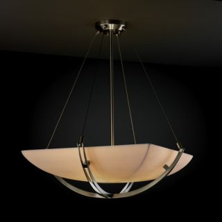 Justice Design Group Porcelina 6 Light Inverted Pendant PNA 9722 Shade Option