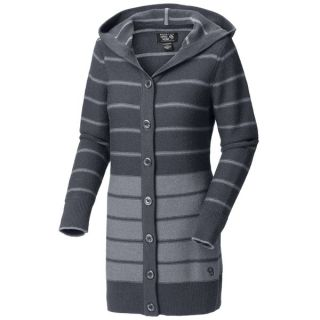 Mountain Hardwear Merino Knit Cardigan Sweater   Hooded (For Women)   GRAPHITE (L )