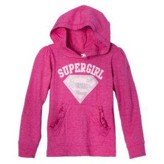 Supergirl Infant Toddler Girls Long Sleeve Hooded Tee   Pink 18 M