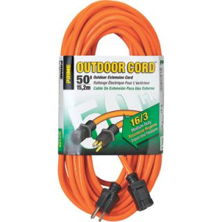 Prime Wire & Cable 125 Volt Outdoor Extension Cord   50ft., Model# EC501630