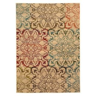 Floral Area Rug   Tan (710x10)