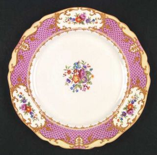 Alfred Meakin Chateau Dinner Plate, Fine China Dinnerware   Osiris, Pink & Yello