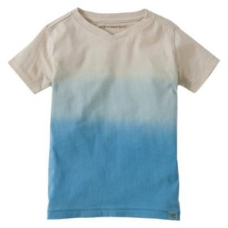 Burts Bees Baby Toddler Boys Dip Dye V Neck Tee   Blue/Grey 3T