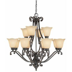 Thomas Lighting THO M232226 Napa Chandelier Natural Slate 12x60W 120